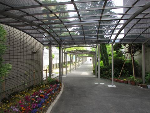 某高校渡り廊下